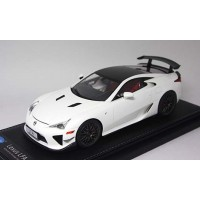 1806WHR, 1/18 scale TOYOTA LFA Nurburgring Package White w Carbon Roof