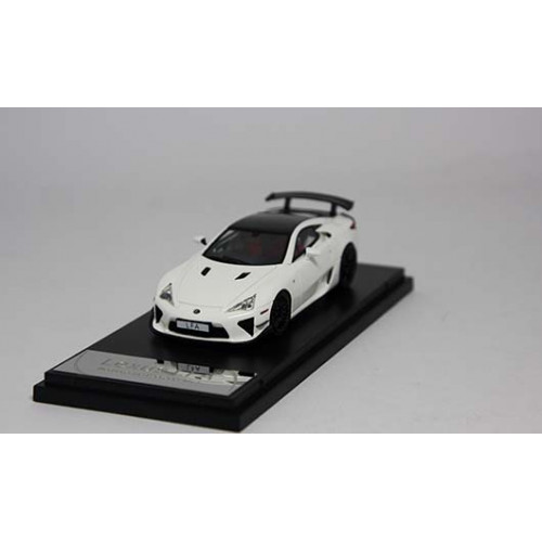 4306WHR, 1/43 scale TOYOTA LFA Nurburgring Package White w Carbon Roof