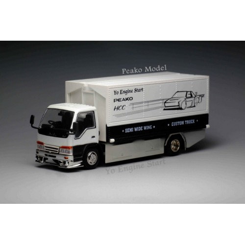 63505, 1/64 Yes x Peako Semi Wide Wng Custom Truck, White