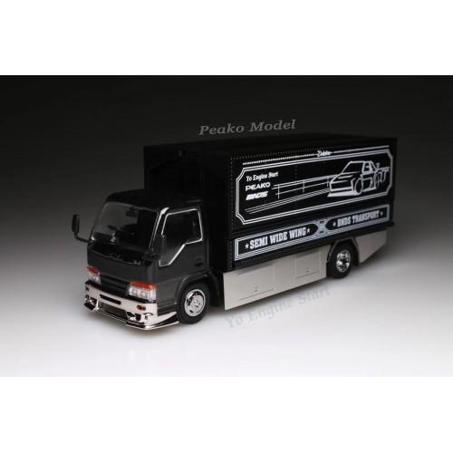 63506, 1/64 Yes x Peako Semi Wide Wing Custom Truck, Black