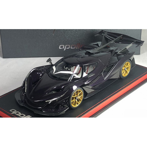 82909, 1/18 scale Apollo Automobil Apollo IE, Purple Carbon