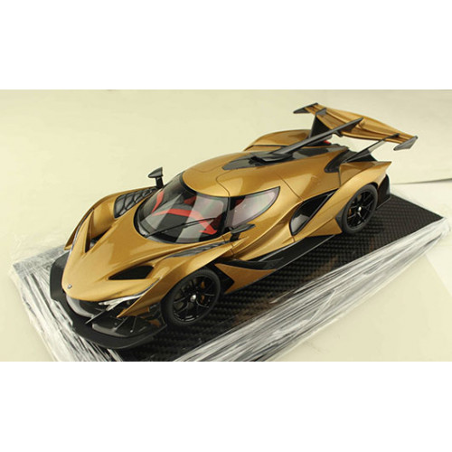 82915, 1/18 scale Apollo Automobil Apollo IE, Gold w/Carbon base