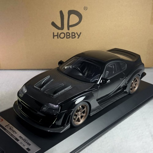 83203, 1/18 scale Varis Supreme Supra JZA80, Black w/carbon bonnet