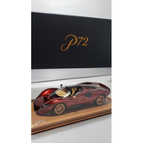 83800, 1/18 scale De Tomaso P72, Soul Red (Dealer Version)