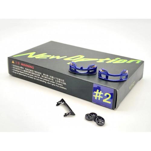 BlueNo2, New Option Tuning Parts for Y.E.S. 1/64 Evo9 Blue, NO. #2