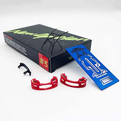 RedNo3, New Option Tuning Parts for Y.E.S. 1/64 Evo9 Red, NO. #3